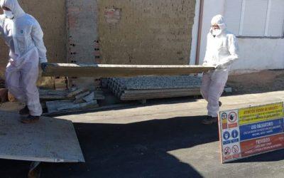 Trabajos con amianto en El Campo de Peñaranda, Salamanca