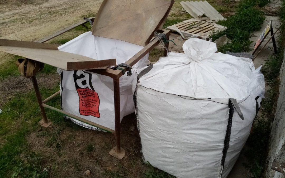 Sacas para el almacenamiento temporal del amianto