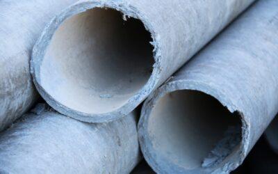 Retirada de bajantes y tuberías de fibrocemento con amianto