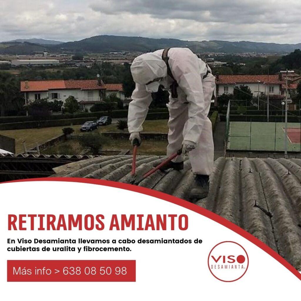 Trabajos de desamiantado en España